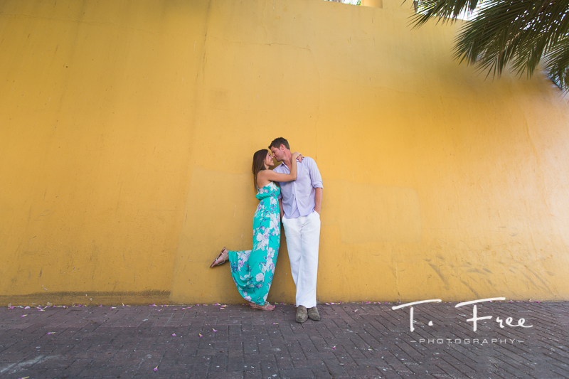 Downtown Curaçao destination engagement session.