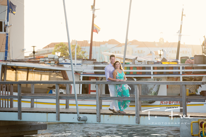Willemstad Curacao engagement session floating market.