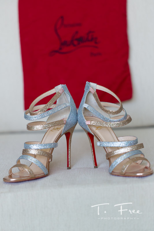 Christian Louboutin Curaçao wedding shoes.