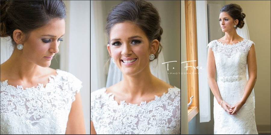 Natural light images of bride prior to Nebraska wedding.