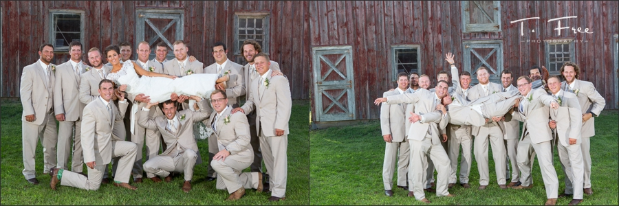 Bridal party outdoor images.