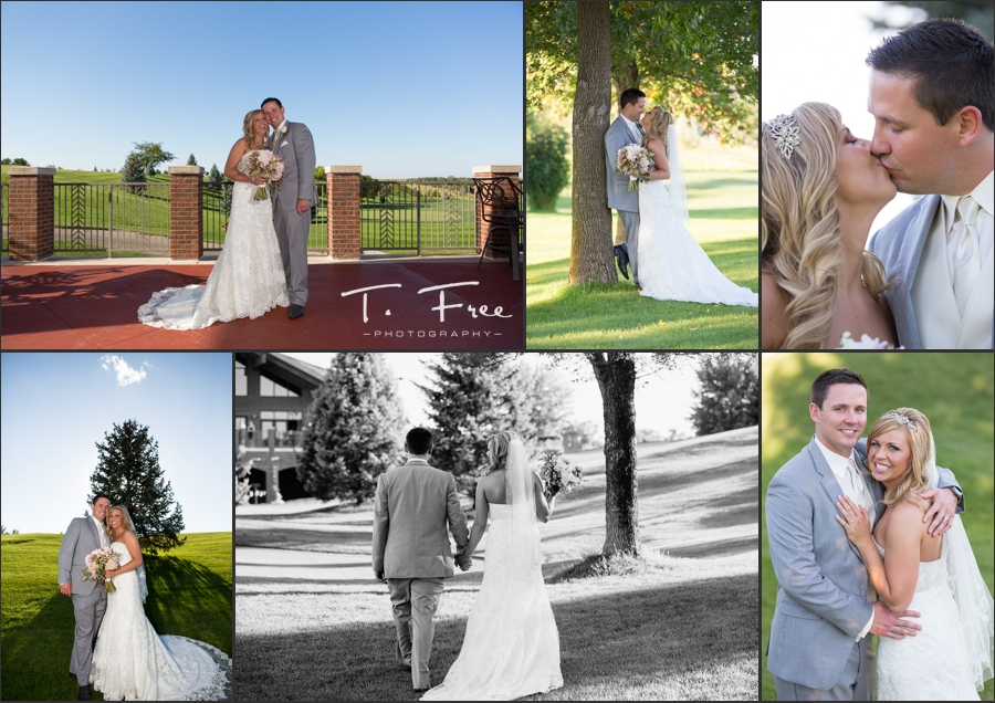 Wedding couple photos at Indian Creek golf course.