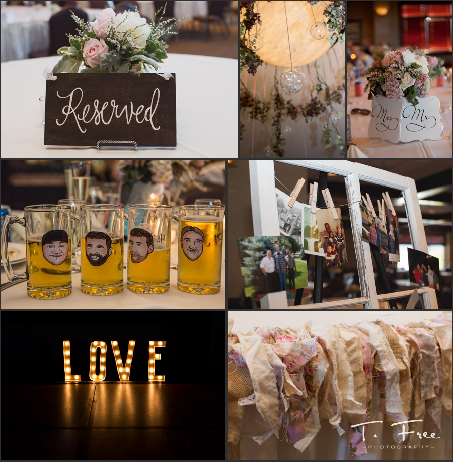 Indian Creek vintage DIY wedding reception decor.