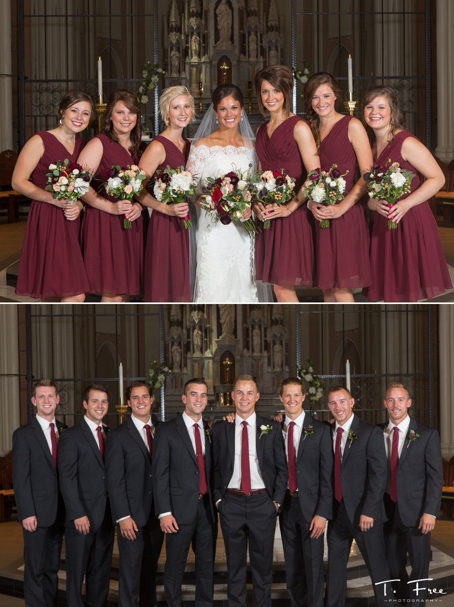Creighton Omaha Wedding bridesmaids groomsmen