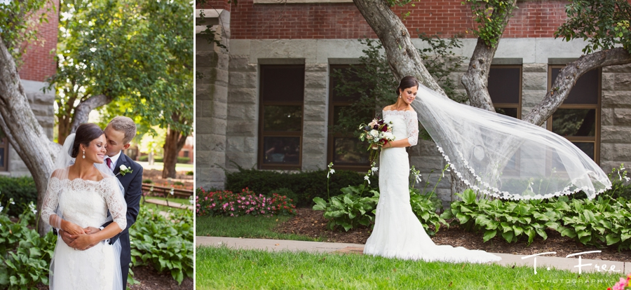 Stunning Creighton wedding at St. John's church