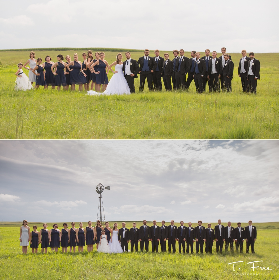Hartington Nebraska wedding bridal party