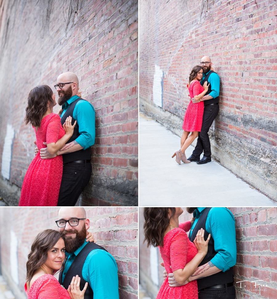 Downtown Omaha engagement session urban.