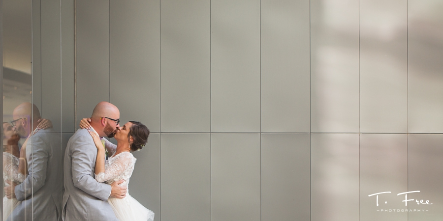 holland performing arts center wedding couple