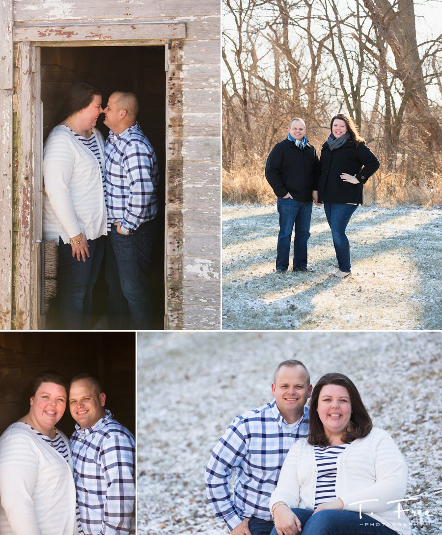 Winter family portrait photographer Elkhorn Nebraska.